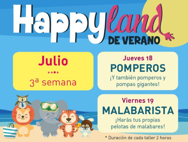 happyland jueves 18 y viernes 19