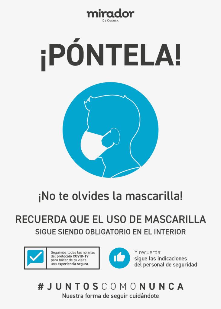 Cartel mascarilla obligatoria